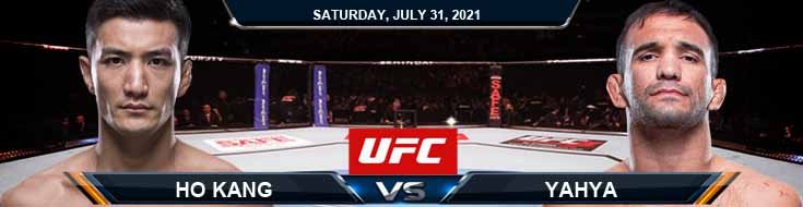 UFC ON ESPN 28 Ho Kang vs Yahya 07-31-2021 Previews Spread and Fight Analysis