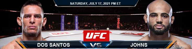 UFC on ESPN 26 Dos Santos vs Johns 07-17-2021 Tips Analysis and Odds
