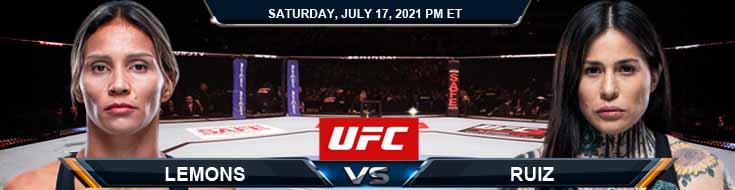 UFC on ESPN 26 Lemos vs Ruiz 07-17-2021 Fight Analysis Forecast and Tips