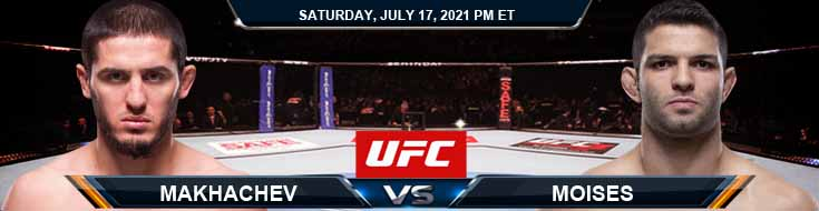 UFC on ESPN 26 Makhachev vs Moises 07-17-2021 Odds Picks and Predictions