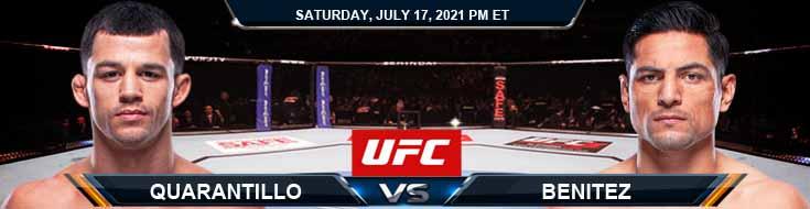 UFC on ESPN 26 Quarantillo vs Benitez 07-17-2021 Previews Spread and Fight Analysis