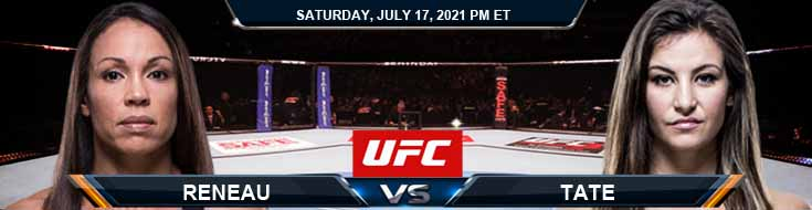 UFC on ESPN 26 Reneau vs Tate 07-17-2021 Picks Predictions and Previews
