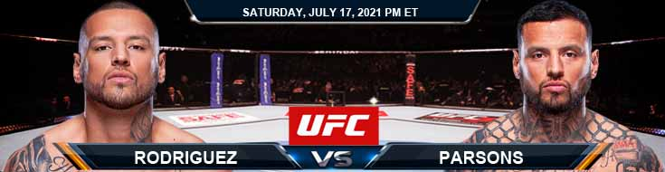 UFC on ESPN 26 Rodriguez vs Parsons 07-17-2021 Spread Fight Analysis and Forecast