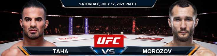 UFC on ESPN 26 Taha vs Morozov 07-17-2021 Forecast Tips and Analysis