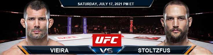 UFC on ESPN 26 Vieira vs Stoltzfus 07-17-2021 Predictions Previews and Spread