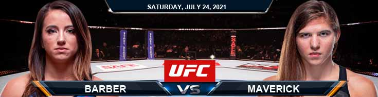 UFC on ESPN 27 Barber vs Maverick 07-24-2021 Spread Fight Analysis and Forecast