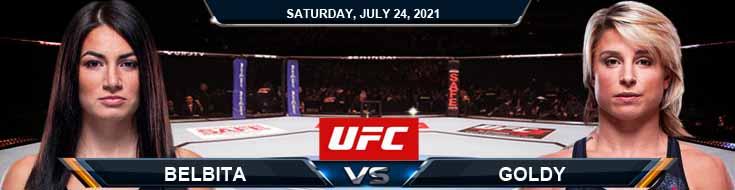 UFC on ESPN 27 Belbita vs Goldy 07-24-2021 Forecast Tips and Analysis