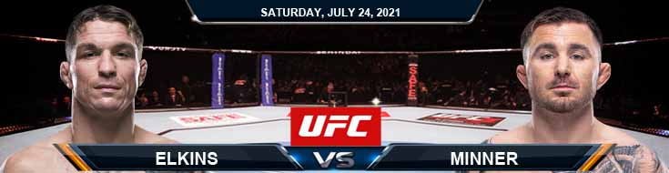 UFC on ESPN 27 Elkins vs Minner 07-24-2021 Previews Spread and Fight Analysis