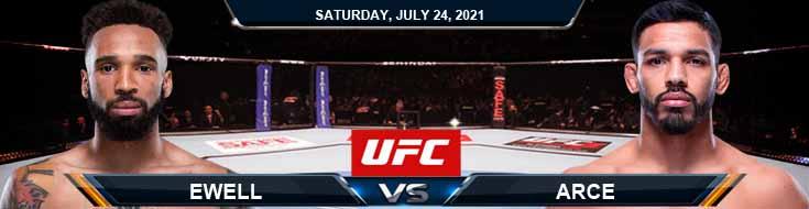 UFC on ESPN 27 Ewell vs Arce 07-24-2021 Picks Predictions and Previews