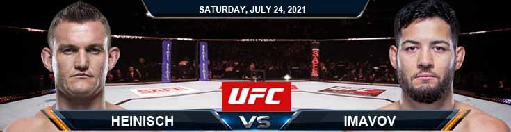 UFC on ESPN 27 Heinisch vs Imavov 07-24-2021 Analysis Odds and Picks