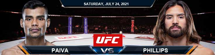 UFC on ESPN 27 Paiva vs Phillips 07-24-2021 Predictions Previews and Spread