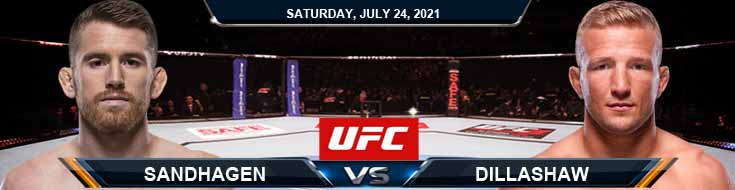 UFC on ESPN 27 Sandhagen vs Dillashaw 07-24-2021 Odds Picks and Predictions