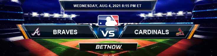 Atlanta Braves vs St. Louis Cardinals 08-04-2021 Odds Betting Picks and Predictions