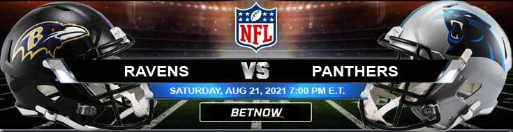 Baltimore Ravens vs Carolina Panthers 08-21-2021 Picks Predictions and Previews