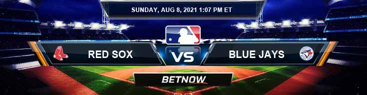 Boston Red Sox vs Toronto Blue Jays 08-08-2021 Analysis Odds and Betting Picks