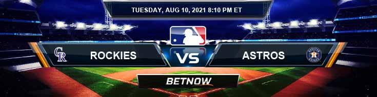 Colorado Rockies vs Houston Astros 08-10-2021 Game Analysis Baseball Tips and Forecast