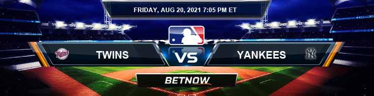Minnesota Twins vs New York Yankees 08-20-2021 Analysis Odds and Betting Picks