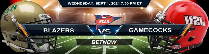 NCAAF 2021 Betting Odds Week 1's Game Between UAB and Jacksonville State 09-01-2021 in Cramton Bowl