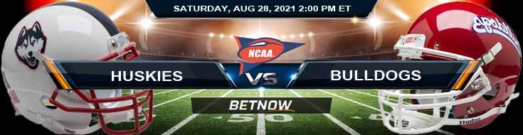 NCAAF 2021 Week 1 Betting UCONN Huskies vs Fresno State Bulldogs 08-28-2021 Picks