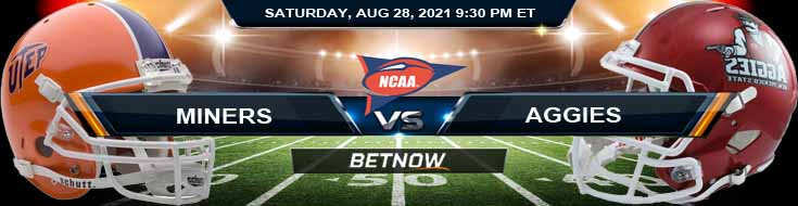 NCAAF 2021 Week 1 Betting UTEP vs New Mexico State 08-28-2021 Odds and Picks