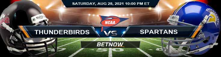 NCAAF Betting Predictions 2021 Week 0 Thunderbirds vs Spartans 08-28-2021 at Aggie Memorial Stadium