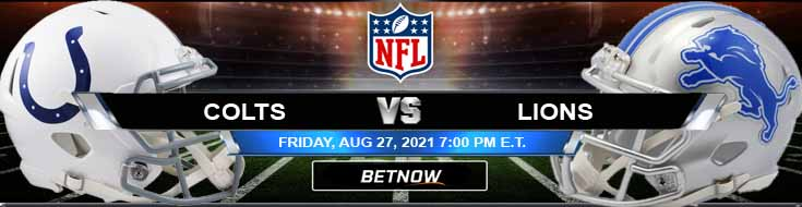 NFL Preseason Game Between Indianapolis and Detroit 08-27-2021 Odds