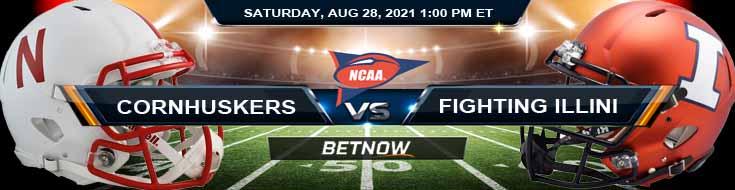 Nebraska Cornhuskers vs Illinois Fighting Illini 08-28-2021 Odds Picks and Predictions