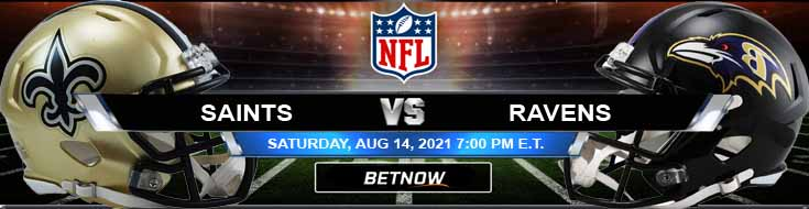 New Orleans Saints vs Baltimore Ravens 08-14-2021 Odds Picks and Predictions