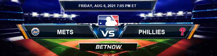 New York Mets vs Philadelphia Phillies 08-06-2021 Predictions MLB Preview and Spread