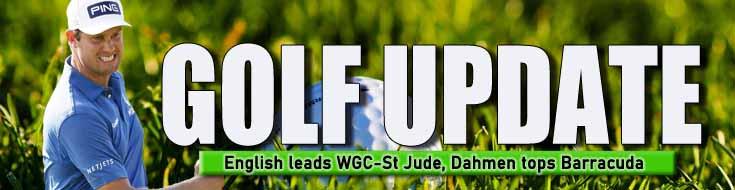PGA Golf Betting Update English leads WGC-St Jude Dahmen tops Barracuda