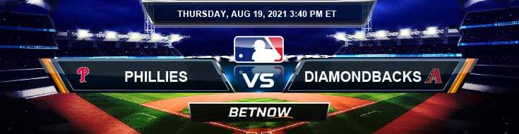 Philadelphia Phillies vs Arizona Diamondbacks 08-19-2021 Predictions MLB Preview and Spread