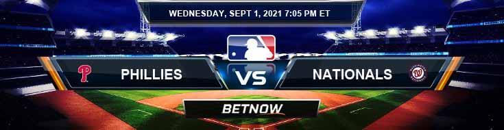 Philadelphia Phillies vs Washington Nationals 09-01-2021 Odds Betting Picks and Predictions