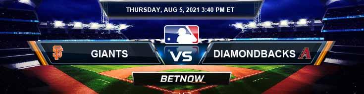 San Francisco Giants vs Arizona Diamondbacks 08-05-2021 Baseball Tips Forecast and Analysis