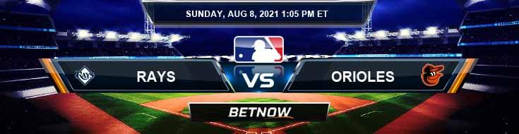 Tampa Bay Rays vs Baltimore Orioles 08-08-2021 Spread Game Analysis and Baseball Tips