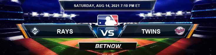 Tampa Bay Rays vs Minnesota Twins 08-14-2021 MLB Results Odds and Predictions