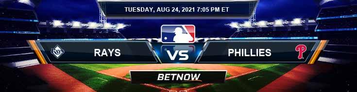 Tampa Bay Rays vs Philadelphia Phillies 08-24-2021 Spread Game Analysis and Baseball Tips