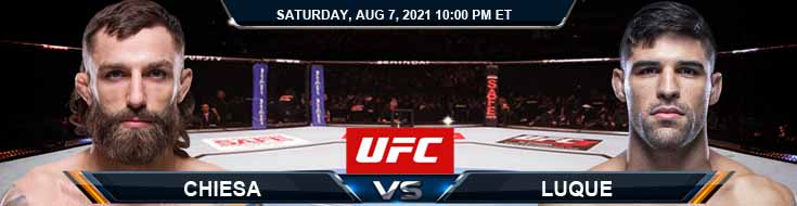 UFC 265 Chiesa vs Luque 08-07-2021 Analysis Odds and Picks