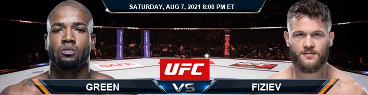 UFC 265 Green vs Fiziev 08-07-2021 Predictions Previews and Spread