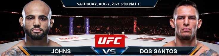 UFC 265 Johns vs Dos Santos 08-07-2021 Tips Analysis and Odds