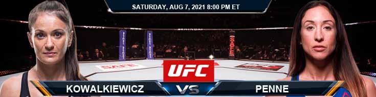 UFC 265 Kowalkiewicz vs Penne 08-07-2021 Spread Fight Analysis and Forecast