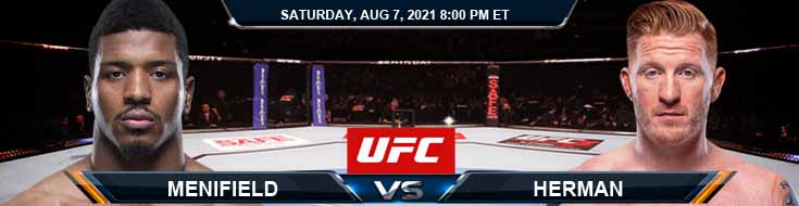 UFC 265 Menifield vs Herman 08-07-2021 Previews Spread and Fight Analysis