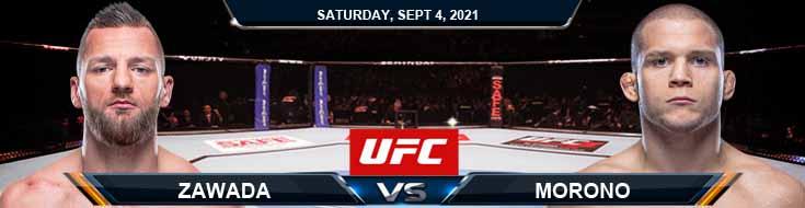 UFC Fight Night 191 Zawada vs Morono 09-04-2021 Forecast Tips and Analysis
