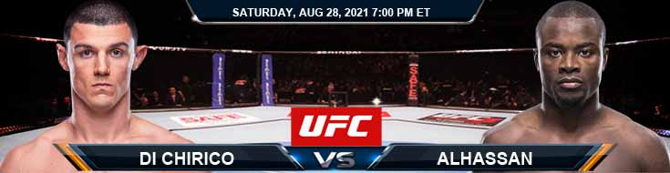 UFC Fight Night 30 Di Chirico vs Alhassan 08-28-2021 Tips Analysis and Odds