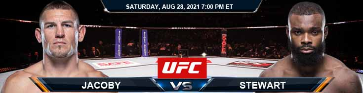 UFC Fight Night 30 Jacoby vs Stewart 08-28-2021 Odds Picks and Predictions