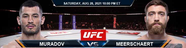 UFC Fight Night 30 Muradov vs Meerschaert 08-28-2021 Tips Analysis and Odds