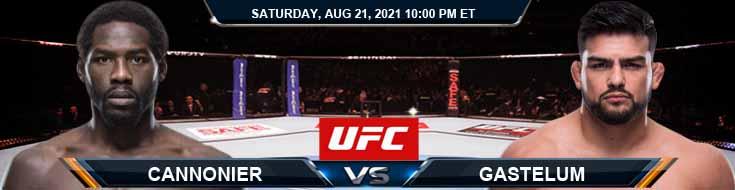 UFC ON ESPN 29 Cannonier vs Gastelum 08-21-2021 Odds Picks and Predictions