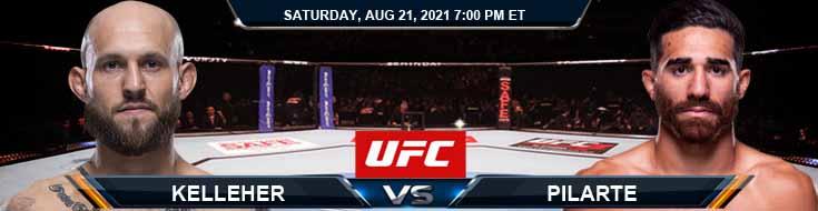 UFC ON ESPN 29 Kelleher vs Pilarte 08-21-2021 Tips Analysis and Odds