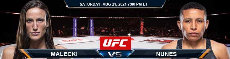 UFC ON ESPN 29 Malecki vs Nunes 08-21-2021 Analysis Odds and Picks