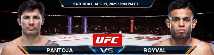 UFC ON ESPN 29 Pantoja vs Royval 08-21-2021 Fight Analysis Forecast and Tips
