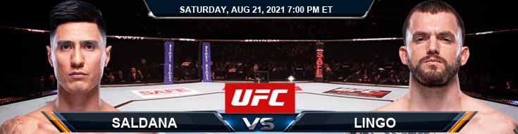 UFC ON ESPN 29 Saldana vs Lingo 08-21-2021 Forecast Tips and Analysis